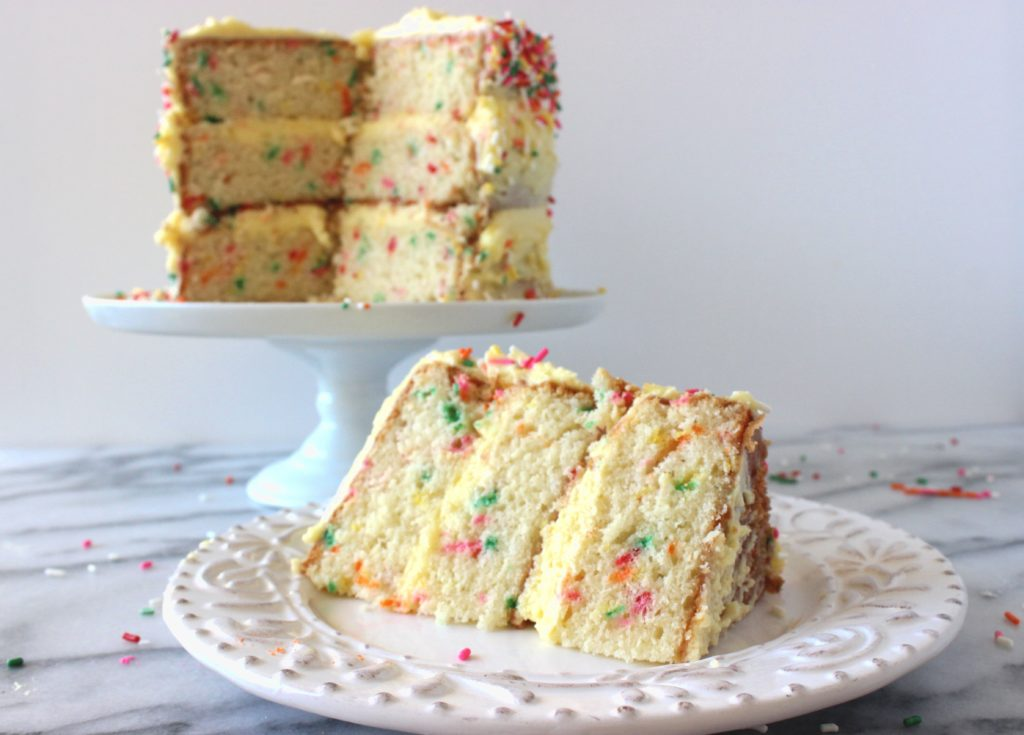 Funfetti Cake with Mango Buttercream Frosting
