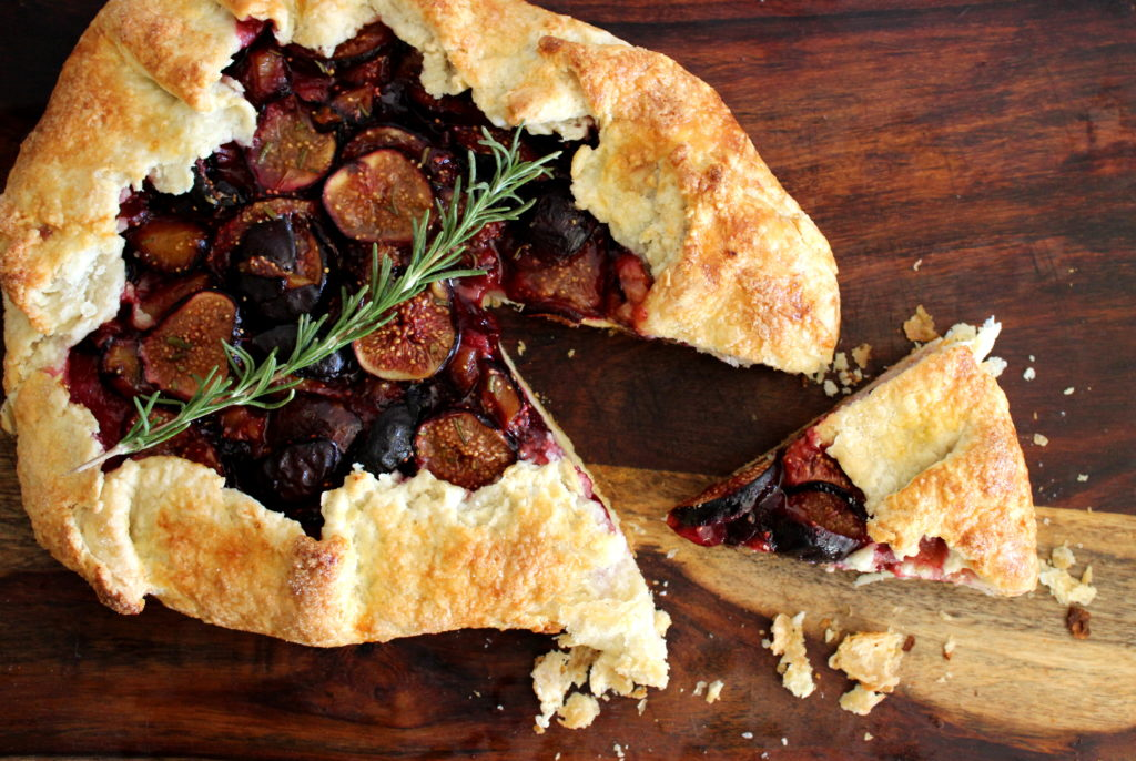 Fig and Plum Galette with Rosemary