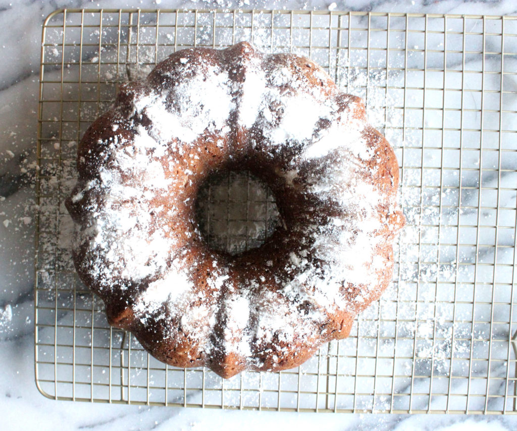 Pear and Persimmon Breakfast Bundt Cake