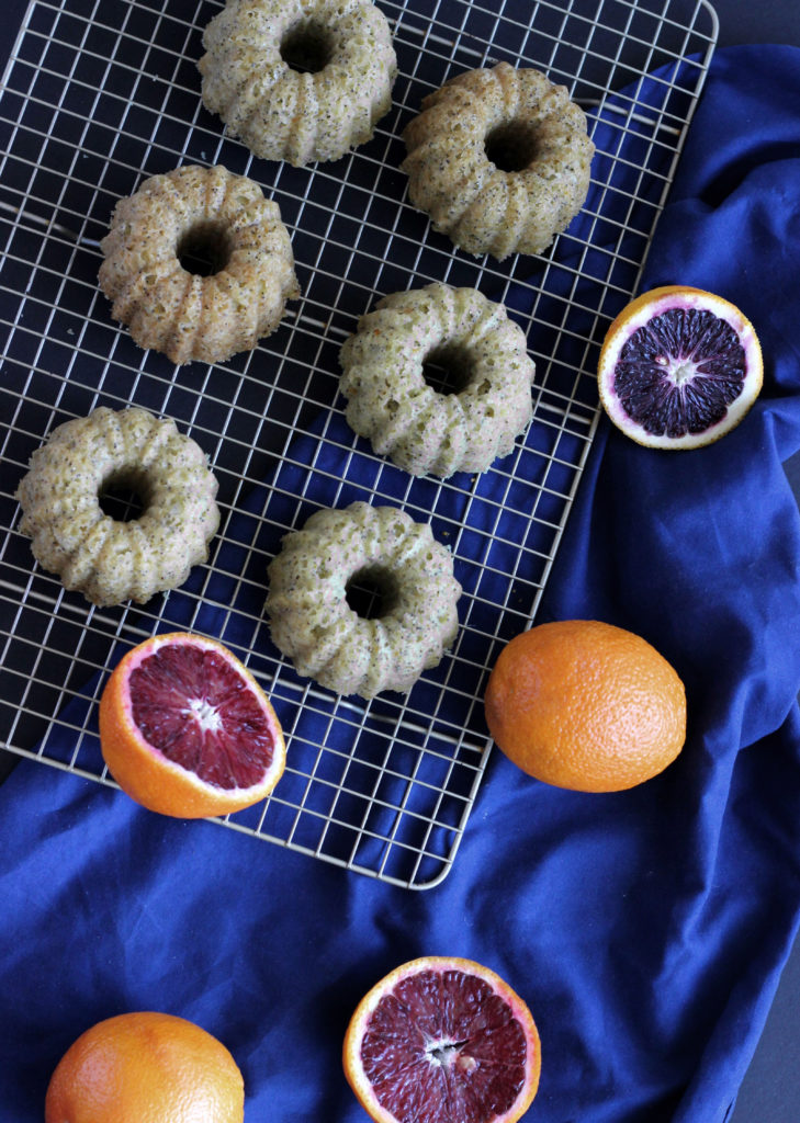blood orange poppyseed mini bundts