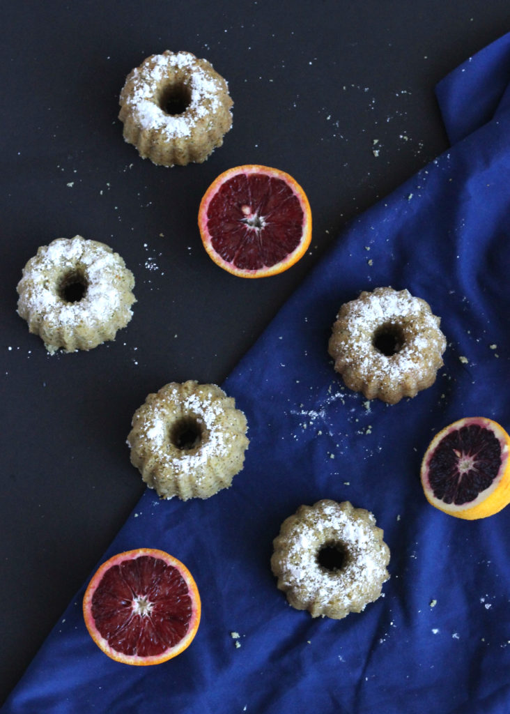blood orange poppyseed bundt cakes
