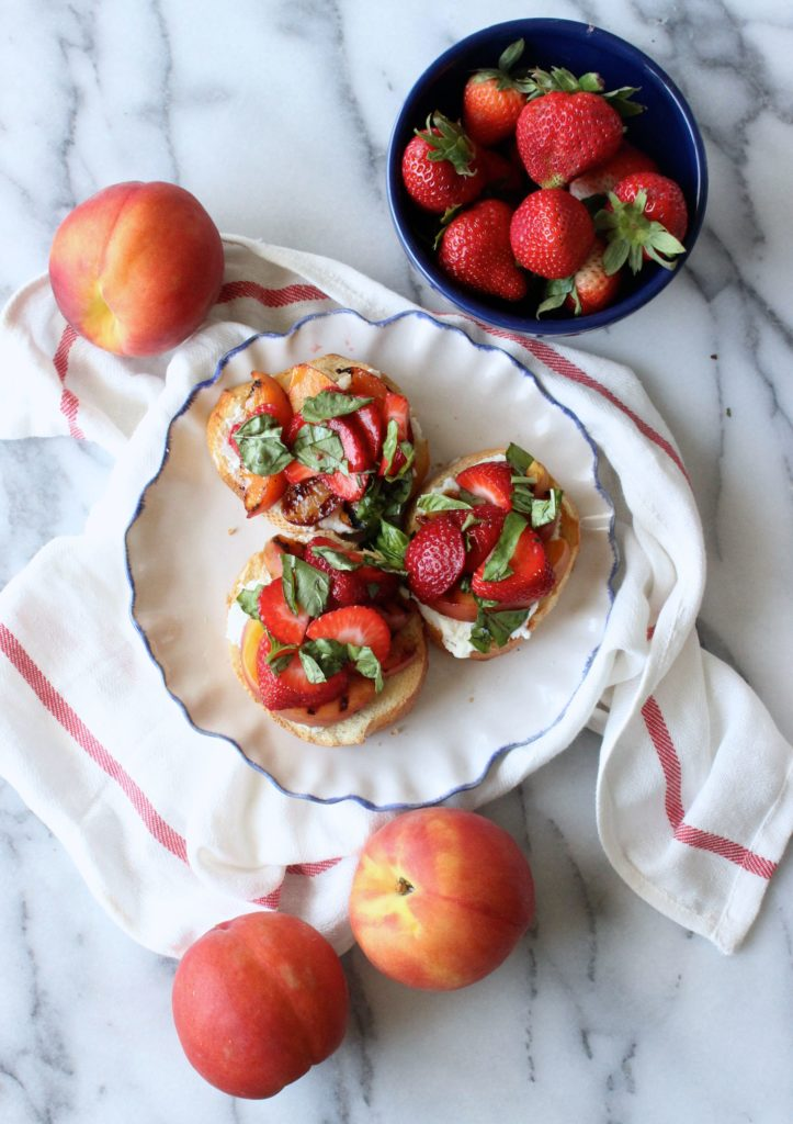 Summer Dessert Bruschetta