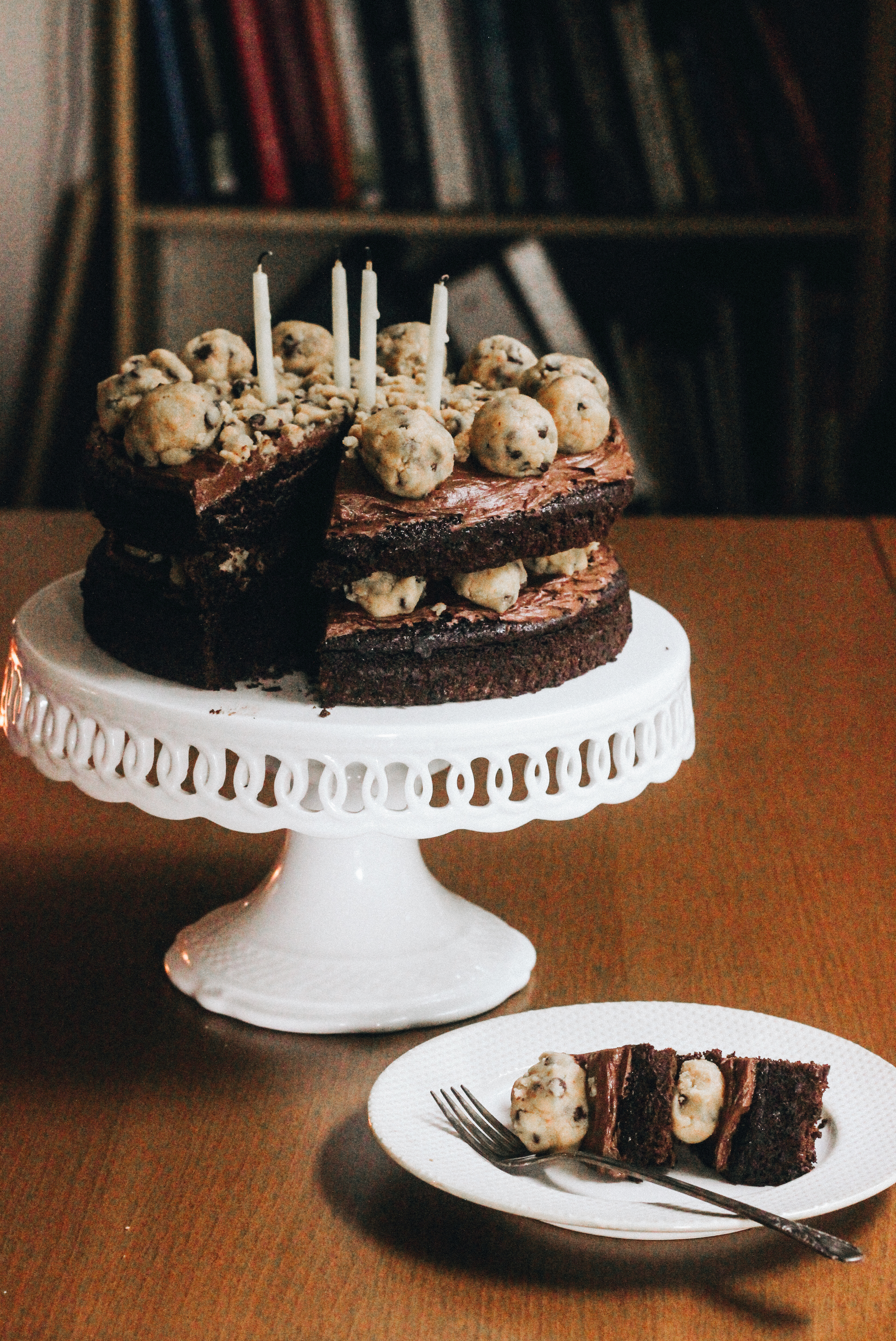 Strange Chocolate Chip Cookie Dough Cake The Bay Leaf Kitchen Funny Birthday Cards Online Overcheapnameinfo